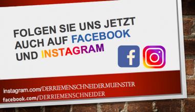 Folgen Sie uns auf Facebook und Instagram